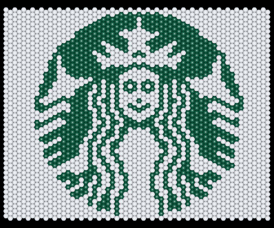 Balloon matrix starbucks logo