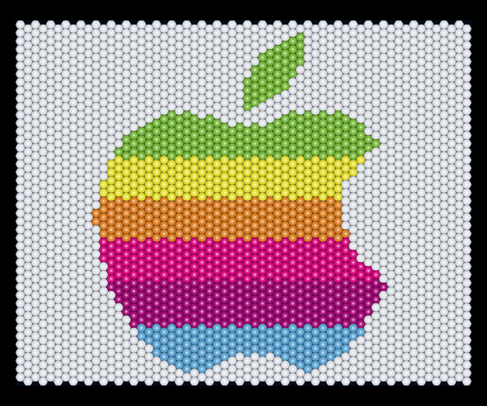 Balloon matrix Apple logo