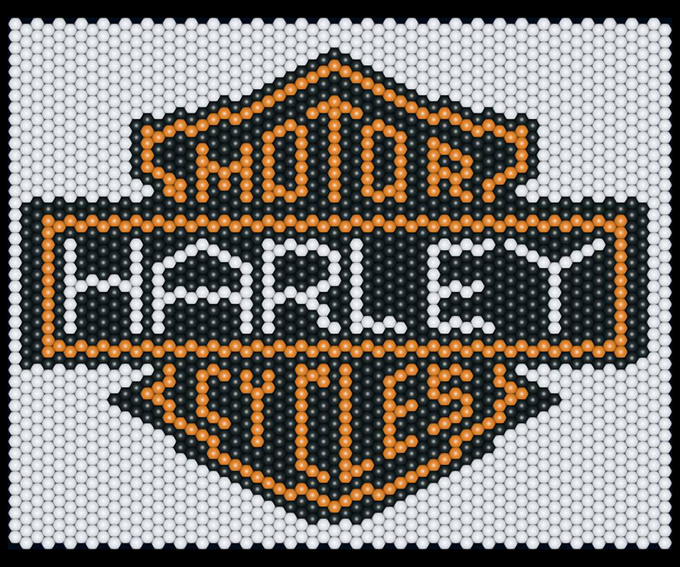 Balloon matrix Harley Davidson logo
