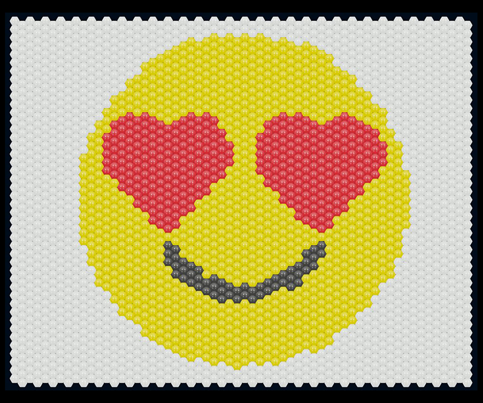 Balloon matrix smiley with heart eyes