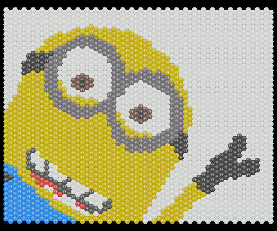 Balloon matrix Minion waving