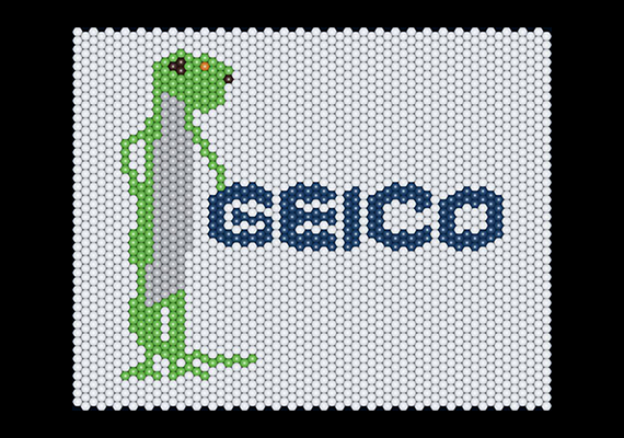 Geico Logo Matrix